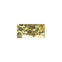 Darice Sequins 8mm Round Cup Gold Approx 2.9gm 120pc