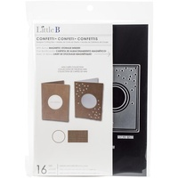 Little B Die Confetti Card 16pc Inc Magnetic Storage Folder