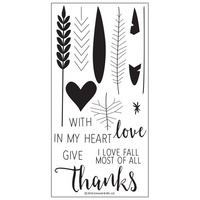 Concord & 9th Clear Stamp Set Give Thanks