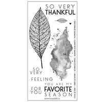 "Concord & 9th Clear Stamp Set 4x8"" Lace Leaf"
