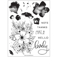 "Concord & 9th Clear Stamp Set 6x8"" Hello Lovely"