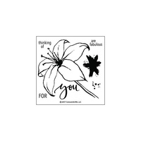 "Concord & 9th Clear Stamp 4x4"" Lily"