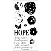 "Concord & 9th Clear Stamp Set 4x8"" Hope"