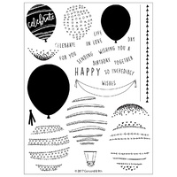 Concord & 9th Clear Stamp Set Happy Balloons