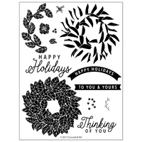 Concord & 9th Clear Stamp Set Magnolia Wreath