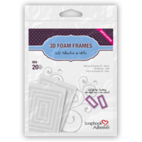 Scrapbook Adhesives 3D Foam Shapes Frames 20pc