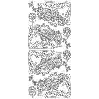 ARTDECO GOLD STICKERS FLOWER CORNERS