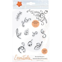 Tonic Studio Clear Stamp Set Bunched Bouquet Autumnal Sprig #2