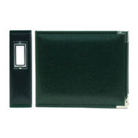 CLASSIC LEATHER 6X6 RING BINDER FOREST GREEN