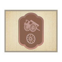 AUSTRALIA 2 DIE COLLECTION OLD FARM CART TAG SET 57X83MM