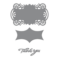 Ultimate Crafts Magnolia Lane Die Thank You Tag Set 100x59mm