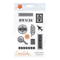 Tonic Studios Clear Stamp Jetsetter's Passport Travel Stamp #1