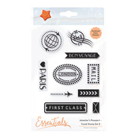 Tonic Studios Clear Stamp Jetsetter's Passport Travel Stamp #2