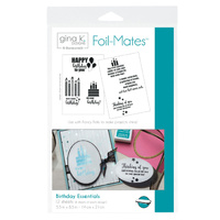 Thermoweb Foil-Mates Sentiments Birthday Essentials by Gina K Designs