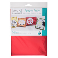 "Thermoweb Fancy Foils 6x8"" Red Velvet 12pk by Gina K Designs"