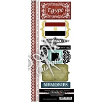 Scrapbook Customs Sticker Egypt Explore