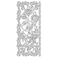 ARTDECO SILVER STICKERS ORNAMENTS