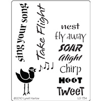 DREAMWEAVER   BIRD SONG STENCIL