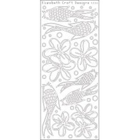ELIZABETH CRAFT DESIGNS OUTLINE STICKERS KOI BLACK