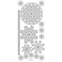 ARTDECO SILVER STICKER 3D FLOWER ORNAMENT