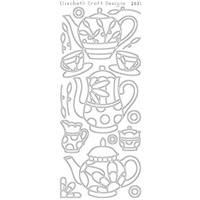 Elizabeth Craft Designs Outline Stickers Black Coffee and Tea