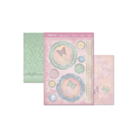 HUNKYDORY BUTTERFLY SORBET FLIGHT OF THE BUTTERFLIES TOPPERS & 2 SHEETS