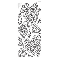 ELIZABETH CRAFT DESIGNS OUTLINE STICKERS GRAPES BLACK
