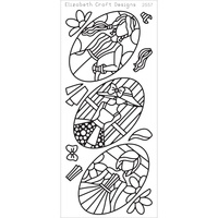 Elizabeth Craft Designs Outline Stickers Black Jacky's Dolls