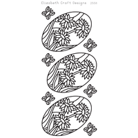 ELIZABETH CRAFT DAISIES IN OVAL BLACK PEEL OFF STICKER