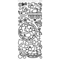 Elizabeth Craft Designs Outline Stickers Black Rubber Ducky