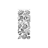 Elizabeth Craft Designs Outline Stickers Black Seashells