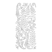 Artdeco Gold Stickers Ferns