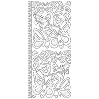 Artdeco Silver Stickers Butterflies Various Sizes