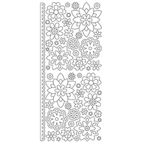 Artdeco Silver Stickers Mixems Flowers
