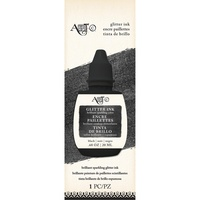 Art-C Glitter Ink Black 20ml