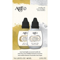 Art-C Metallic Ink 2pk Gold & Silver