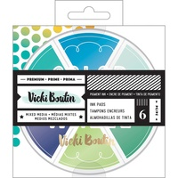 Vicki Boutin Mixed Media Color Wheel Pigment Ink Pads Cool Tones 6pc
