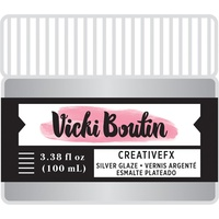 Vicki Boutin Mixed Media Creative FX Glaze Silver 3.38oz