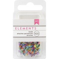 "American Crafts Brads Elements Mini Brights .125"" 100pc"