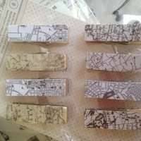 American Crafts Whittles Pegs Maps 8pc