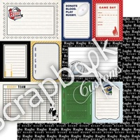Scrapbook Customs Paper Rugby DS Sports Journal