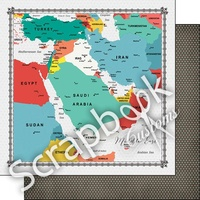 MIDDLE EAST MEMORIES MAP PAPER