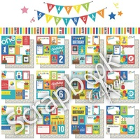 Scrapbook Customs Paper Pack 1st-12th Birthday Journal 12pc