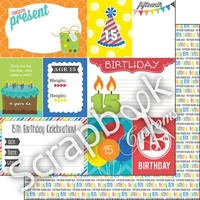 Scrapbook Customs Paper 15th Birthday DS Journal