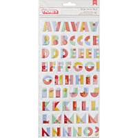 American Crafts Thickers Alpha Stickers Oh Happy Life Oh Yes Multicolour by Amy Tan