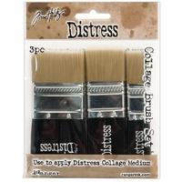 "Ranger Tim Holtz Distress Collage Brush 3pc Assortment 3/4"", 1-1/4"", 1-3/4"""