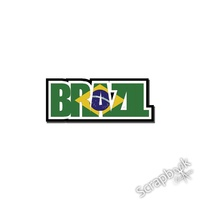 BRAZIL WORD STICKER
