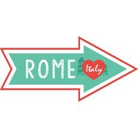Scrapbook Customs Die Cut Rome Memories Arrow