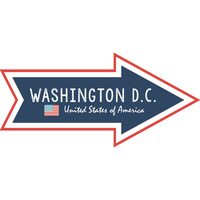 Scrapbook Customs Die Cut Washington DC Memories Arrow