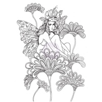 Prima Cling Stamp Princesses Anastasia